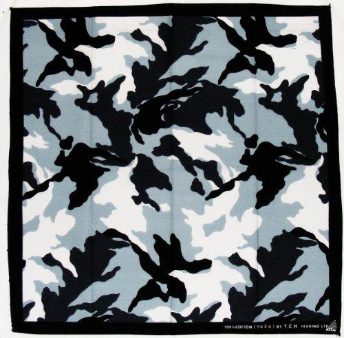 Armee Bandana (Camouflage Armee Army Tarn Muster Kopftuch Bandana Halstuch Nickituch ca. 51 x 51 cm Einseitig bedruckt)