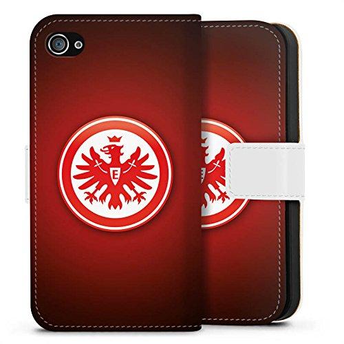 Apple iPhone 6s Tasche Hülle Flip Case Eintracht Frankfurt Fanartikel SGE Bundesliga Sideflip Tasche weiß