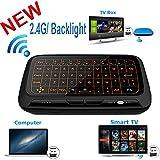 Mini teclado retroiluminación, Wirele ratón touchpad y Combo, super-vip H18toda Panel táctil de gran superficie múltiples dedos 2,4G Wifi Mini Touchpad para Android TV Box, Windows PC, HTPC, IPTV, Raspberry Pi