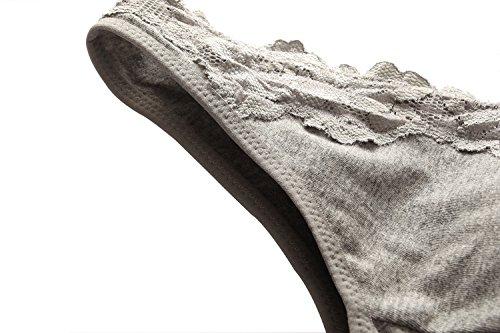 Topwhere® Femme Coton Soutiens-Gorge Sommeil / Maternité Bra Grey+ Black