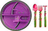 Constructive Eating - Garden Fairy Utensil Set with Garden Plate