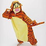 iDream Tier Cosplay Kostüme Tierkostüme Erwachsene Pyjamas Kostüm Pyjamas Schlafanzug Nachtwäsche Kostüm Cosplay Tier kleid Tier Cosplay Anime Damen und Herren gut Geschenk für Kinder und Erwachsene in Weihnachten Halloween Fasching Kinderparty Karneval (Tiger, S/(Ihre Höhe: 148-160cm)) -