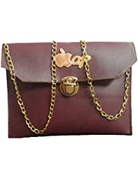 Divu Collections Dc's Stylish & Designer Mini Sling Bag With Trendy Look Golden Chain For Girls & Women's