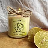Lime Scented Candle Made With Blended Natural Wax And Fine Fragrance Oils For A Healthy And Clean Burn/Vegan Candle/Lemon Candle