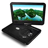Tragbarer DVD-Player Beweglicher DVD-Spieler-Kopfstütze im Auto Dvd Players-10.1 Zoll Farbe TFT LED DVD mit entfernen Steuerschwenkschirm und Akku laufen für 2500mAh 5 Stunden, kann lesen SD-Karte USB-Nabe MP5 MP4 RMVB AVI, MPEG