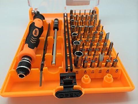 Nouveaux professionnelle 45 à 1 CR-V précision Torx Outil Outils Outils Outils de réparation Outils à main téléphoniques appareils électriques Box Boîtes Pochettes pour iPhone 6 / 6Plus / 5 / 4S / 4/3/2/1; IPOD; iPAD; IPad Mini, MAC; SAMSUNG; HTC; NOKIA; LG; HUAWEI; PHILIPS; TOSHIBA