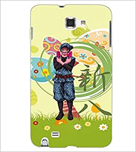 PrintDhaba Cartoon D-4615 Back Case Cover for SAMSUNG GALAXY NOTE 1 (Multi-Coloured)