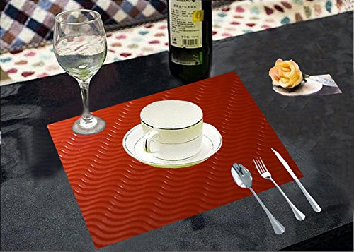 Kuber Industries Pvc Dining Table Placemats / Multi Purpose Mats Set Of...