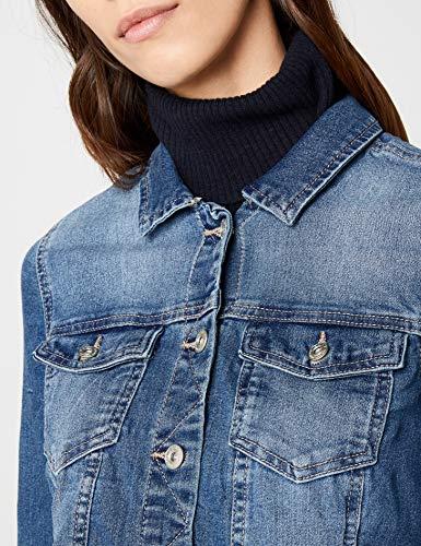 ONLY Damen Jeansjacke Jacke 15114138, Gr. 38, Blau (Medium Blue Denim) - 6