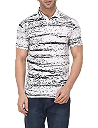 Vivid Bharti Collar Half Sleeve Black Printed T-Shirts