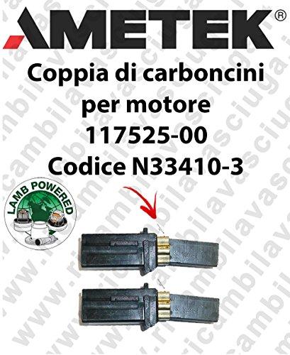 Paar Kohlebürsten Saug X Motor Lamb Ametek