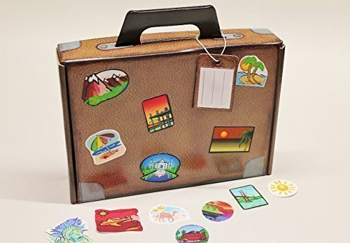 Deko-cut Geschenkkoffer - Bastelset - Weltreise -