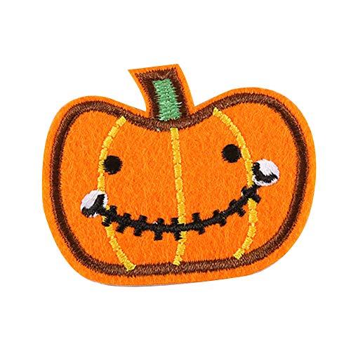 Dosige 10 Stück Halloween Stoff Aufnäher Aufbügler Kleidung DIY Nähen Patches für T-Shirt Jeans Hut Dekor 5 * 5.9cm Stil-J