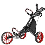 CADDYTEK Facil-plegable Carrito de golf 3 Rueda empuje cart con bolsa de almacenamiento,...