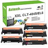 Aztech 5 Pack XXL Kompatibel für Toner Samsung CLT-404S CLT-K404S K404S CLT-P404C Toner für Toner Samsung C480W Toner C480W Toner Samsung C480FW Samsung Xpress C480W C480FW C480 C480FN SL-C480W Toner Samsung Xpress C430W SL-C430W C430 Farblaserdrucker