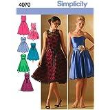 Simplicity 4070 - Patrones de costura para vestidos de gala para mujer y niña