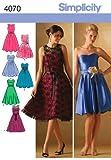 Simplicity 4070 - Cartamodello per vestiti da cerimonia per donna e bambina