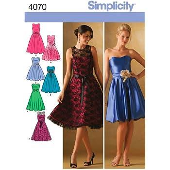 simplicity schnittmuster 4070 festliche kleider f r damen und m dchen k che haushalt. Black Bedroom Furniture Sets. Home Design Ideas