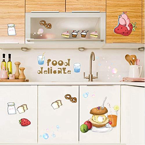 asfrata265 Aufkleber Cupcake Wandaufkleber Aufkleber Auf Dem Kabinett Frühstück Wandtattoo Küche Zimmer Essen Aufkleber Hausbäckerei