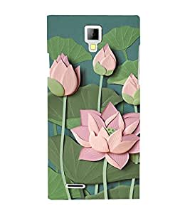 Lotus Vector Clipart 3D Hard Polycarbonate Designer Back Case Cover for Micromax Canvas Xpress A99