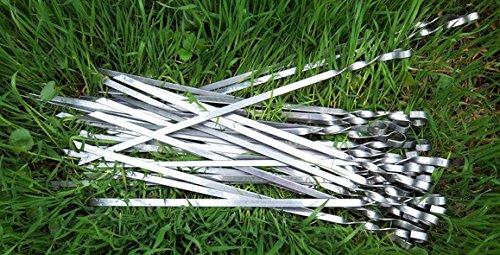 10 Grillspieße 40cm Schaschlikspieße Fleischspieße Schampura
