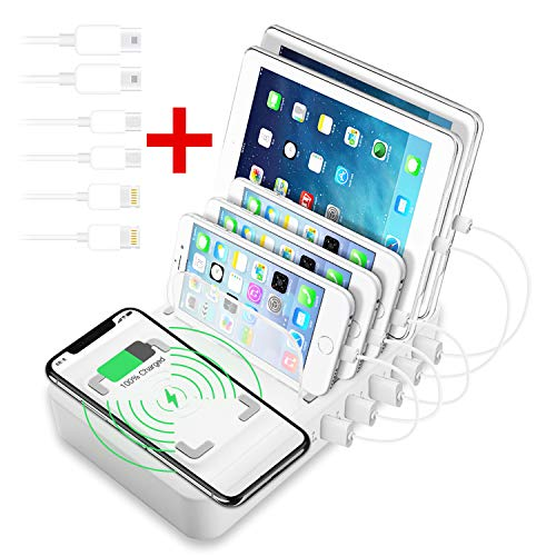 OTHOKING Handy Ladestation USB Ladegerät Fast Wireless Charger mehrfach Ladestation für mehrere Geräte Smartphone Ladegerät für mehrere Handys