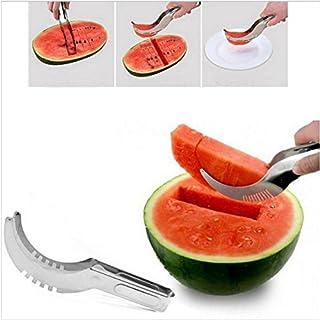 amara-global Edelstahl Schneller Melonenschneider Wassermelone Messer Küche Obstschneider