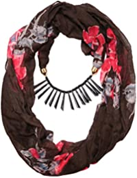Scarf Necklace Animal Printed Black Necklace Scarf Pendant Scarf Stole Wrap Muffler Scarves ORDER NOW ""