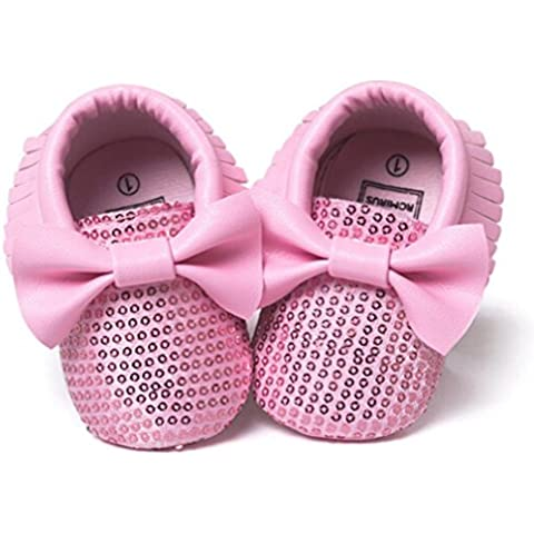 pattini del bambino, Kingko® Nappe Bowknot Shoes PU Baby scarpe