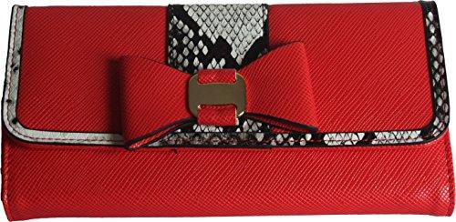 H&G Ladies borsa Designer con pannelli stampa animale a contrasto