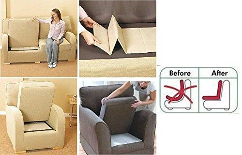4 Tablas plegables renovadoras de sofás, sillas 1 2 3 plazas, para asientos hundidos, 3 Seater