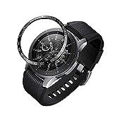 Lunette de Montre 46 mm pour Samsung Galaxy Watch, Style métallique avec Anneau, Coque adhésive Anti-Rayures, Protection pour Galaxy Watch 46 mm Gear S3 Frontier & ‿Classic