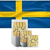 travSIM Schweden Prepaid Daten Sim Karte + 1.5GB für 30 Tage - Standard,Micro & Nano Sim