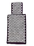 White Lotus Anti Aging: Almohada Cervical con Espuma de Memoria Viscoelástica y Esterilla de Masaje de Acupresión– Alivian el Estrés, Mejoran el Sueño. Ganadora del Primer Puesto en Vergleich.org 2017