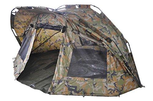 "MK-Angelsport""Fort Knox Ghost 2 Mann Dome"" Zelt Karpfenzelt Camouflage Angelzelt incl. Gummihammer"