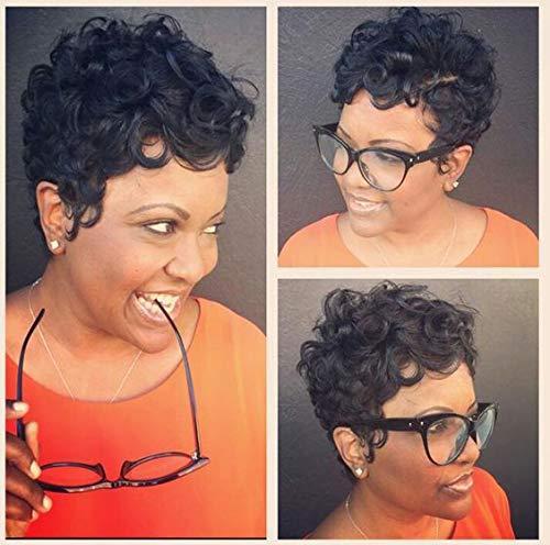 RUISENNA Afro Court Perruques De Cheveux Boucl
