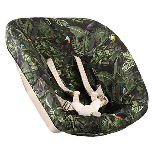 Bezug Stokke Tripp Trapp Newborn Set Dschungel Affen Öko-Tex 100 Baumwolle Recycelbar Schweißabsorbierend und Weich für Ihr Baby