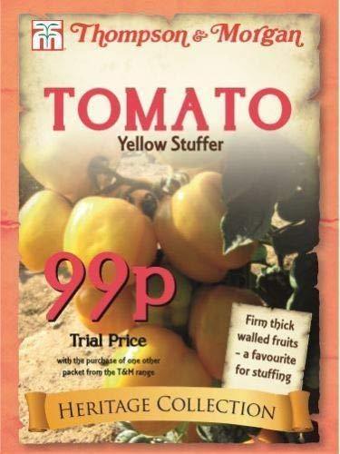 AGROBITS Thompson & Morgan - Heritage Gemüse - Tomaten Yellow Stuffer - 30 Seed # 1505