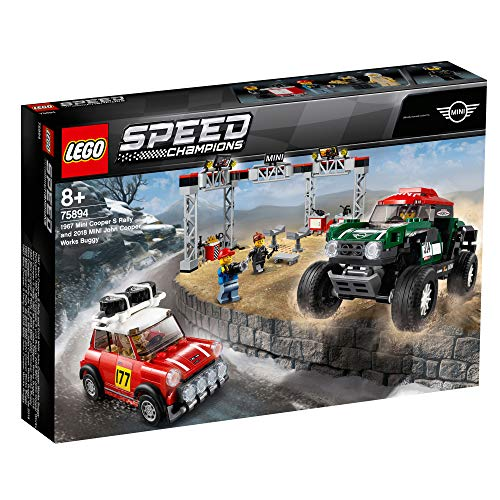 Lego 75894 Speed Champions 1967 S Rally & 2018 Mini John Cooper Works Buggy Building Kit, Colourful