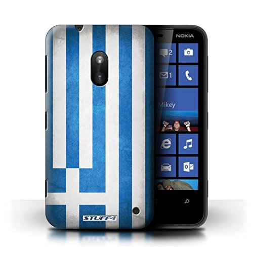 Kobalt® Imprimé Etui / Coque pour Nokia Lumia 620 / France/français conception / Série Drapeau Grèce/Grec