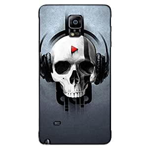 SKELETON MUSIC LOVER BACK COVER FOR SAMSUNG GALAXY NOTE 4
