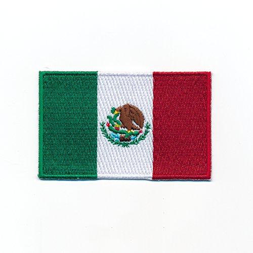 60 x 35 mm Mexico Mexiko Flagge Patch Mexiko-Stadt Flag Aufnäher Aufbügler 0953 B