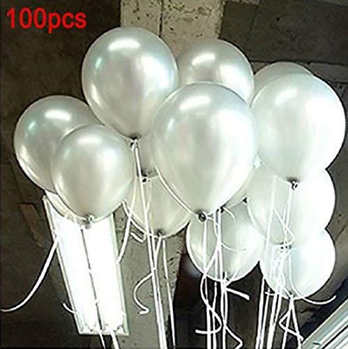 Hemore 10-Zoll-Perlweiß-Ballon 100 Dekorativer Ballon für Hochzeitsfest-Dekorationen/Jahrestag/Party/Party