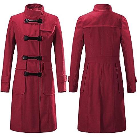 GSKBNT Autunno e inverno nuovi prodotti cappotto di ispessimento lana giacca a vento donna Slim , big red , m