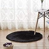 Berrose-Wolle Nachahmung Schaffell Teppiche Faux Fur Rutschfeste Schlafzimmer Shaggy Teppich Matten Baby Kinder Spielmatte Runde Matte Spielzelte Dekoration fürs Kinderzimmer