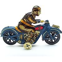 Eingereicht Mann Reiten Motorrad Uhrwerk Metallblechspielzeug Sammlerstueck