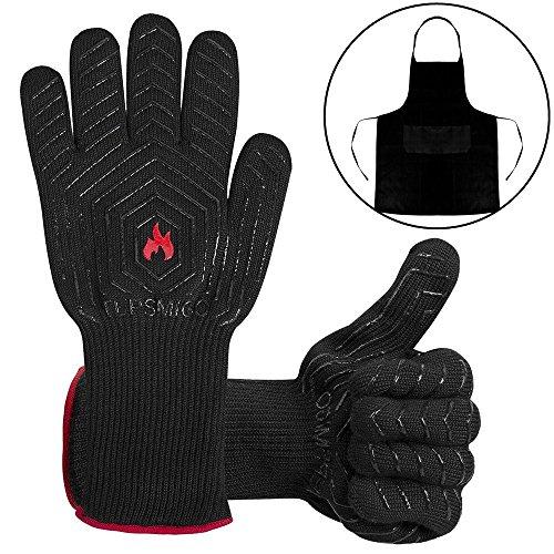 Feuerhandschuhegrillhandschuhe Feuerfestofenhandschuhegrillhandschuhe Hitzebestndiggrillzubehr Handschuhe Mit Einer Grillschrze