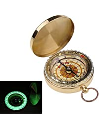 ShopyStore Ycys New Outdoor Camping Hiking Portable Brass Pocket Golden Compass Navigation Outdoor T