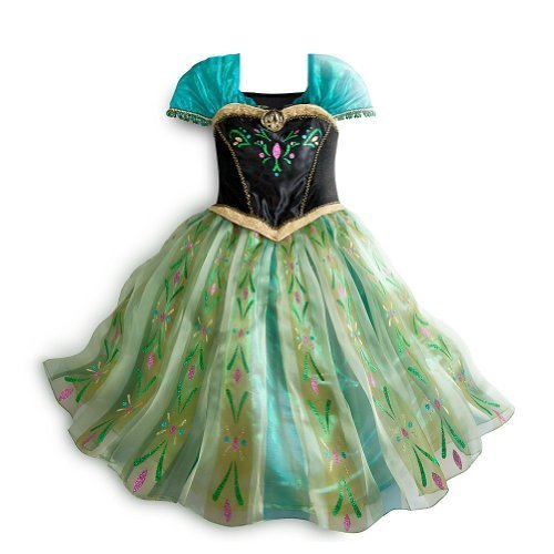 Disney Store Frozen Princess Anna Deluxe Coronation Costume Size Small 5/6 (5T)(US Version, Imported)