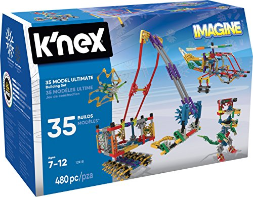 K�NEX Imagine 35 Model Building Set for Ages 7+, Construction Education Toy, 480 Pieces